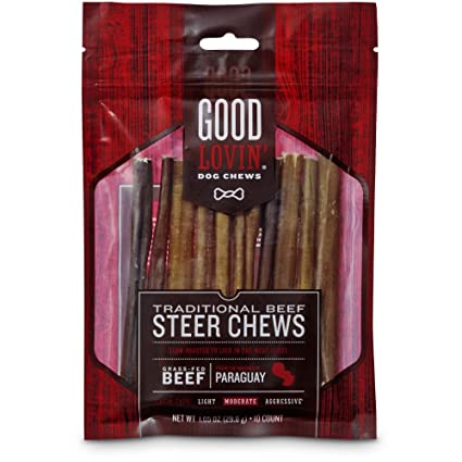 Good Lovin' Traditional Beef Steer Dog Chews, 5-inch, Pack of 10