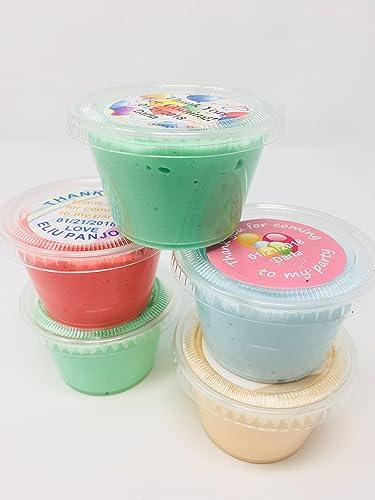 a1dc9c4e567c Amazon.com: Custom Order Party Favors Handmade Slime 25 pieces 4 oz ...