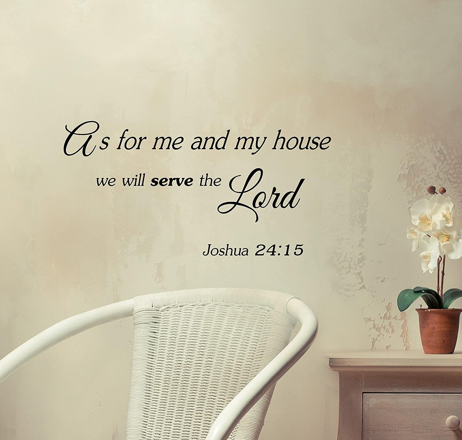 #2 As for Me and My House, We Will Serve the Lord. Joshua 24:15 Vinyl Decal Matte Black Decor Decal Skin Sticker Laptop
