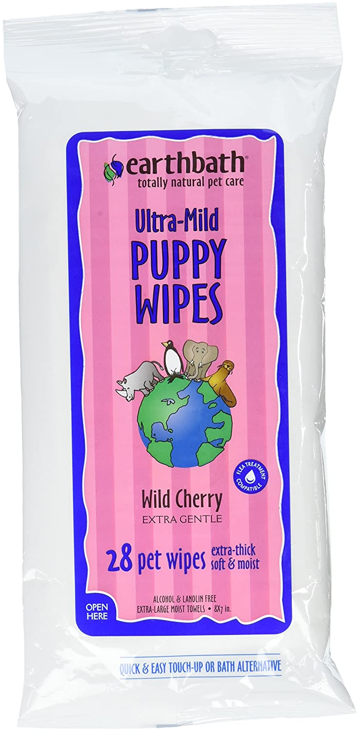 Earthbath All Natural Grooming Wipes, Puppy - Pack of 1 Earth Bath PA6H