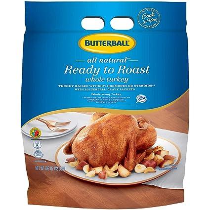 Butterball, listo para asar toda Turquía, 12 libras (Frozen ...