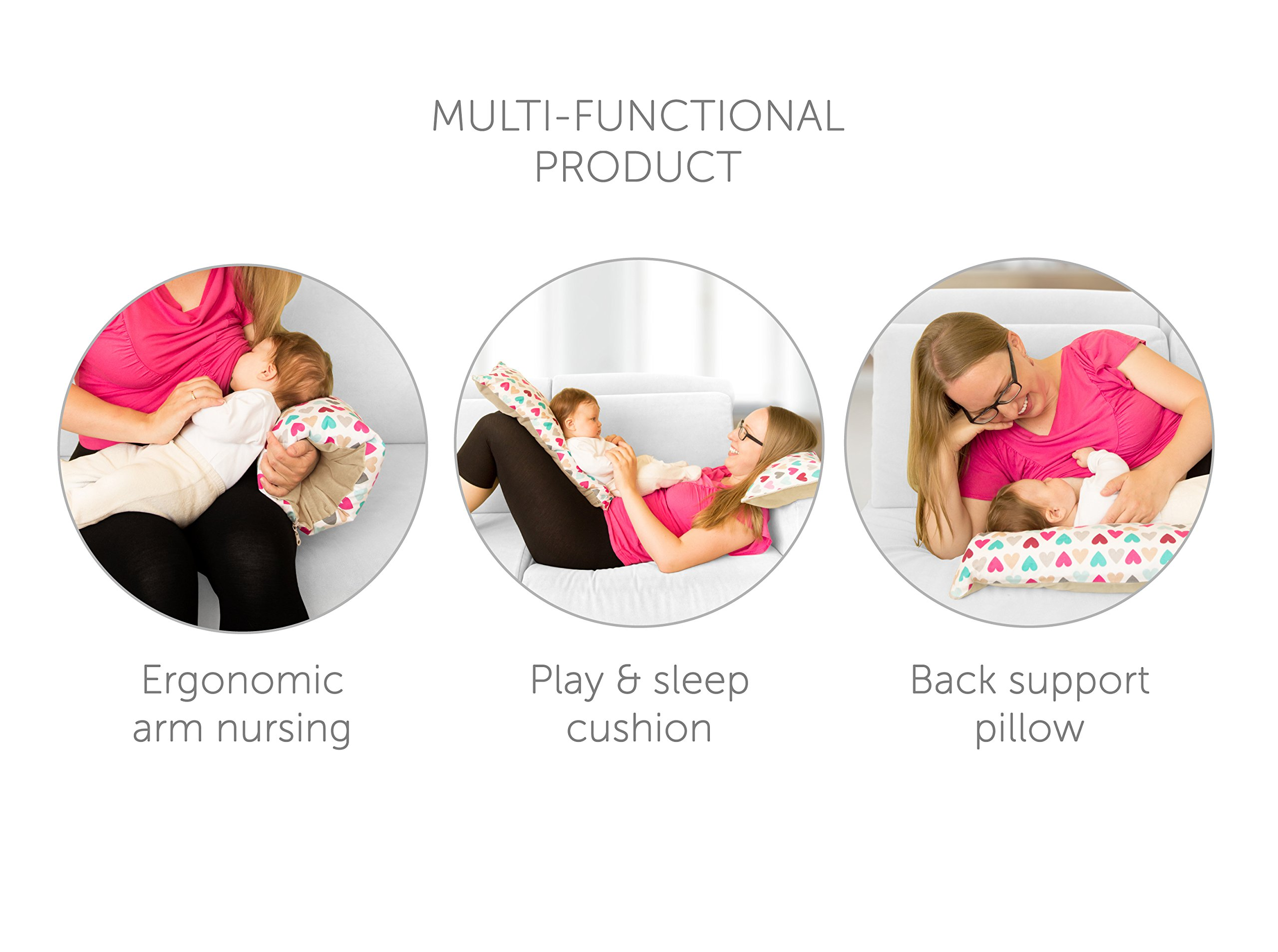 Benjamin Button - Arm Nursing, Breastfeeding Pillow and Positioner   Organic, Natural, Ergonomic Back Support Shape by Benjamin Button (Image #6)
