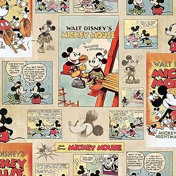 Disney Vintage Mickey Wallpaper Amazoncouk DIY Tools