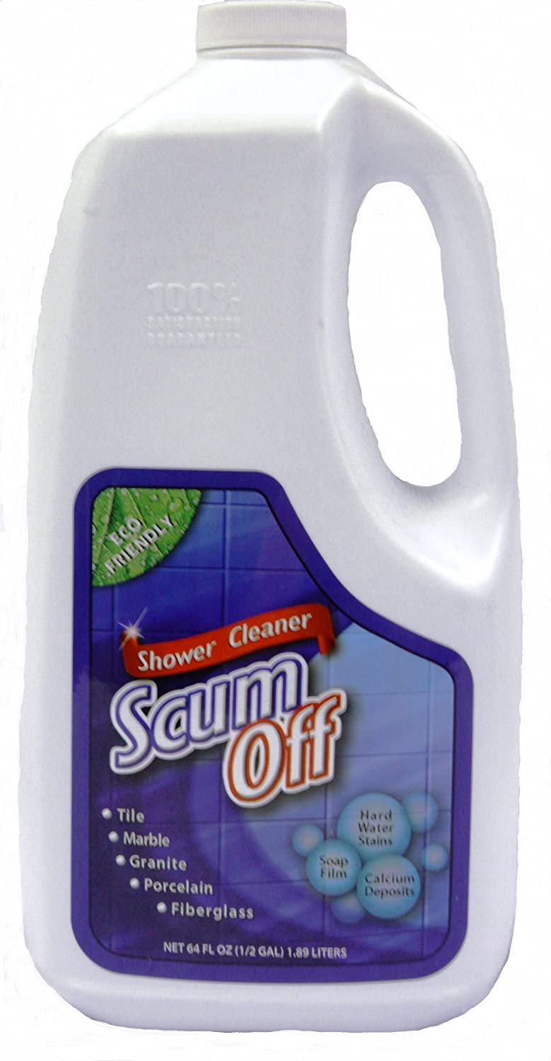 Amazon.com: Scum Off Shower Cleaner for Hard Water, 64 fl.oz (Pack ...