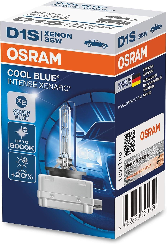 2 x D1S OSRAM Xenarc COOL BLUE INTENSE 6000K Light Xenon HID Car Bulb TWIN