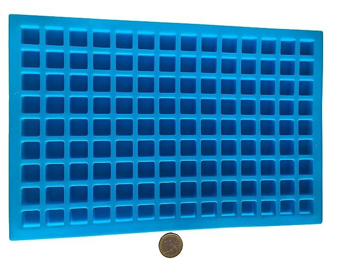 126 Quadrate Rechteck Pralinen Silikonform Backform Schokoladenform Eiswürfelform Pralinenform Bonbons Schoko Riegel selber m