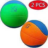 Macro Giant発泡ソフトカラフルバスケットボール-19cm (直径)- 2入,キッドボール,練習,様々な色