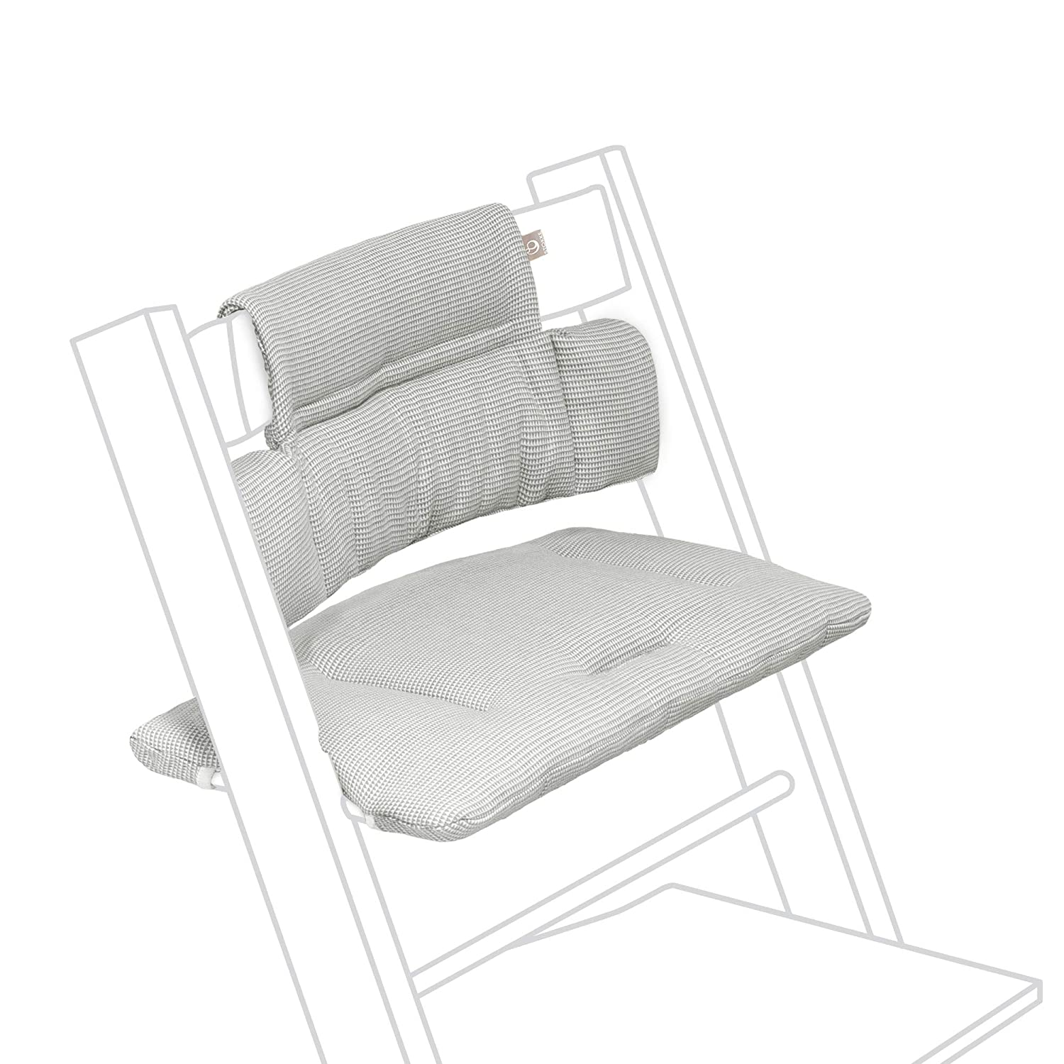 Stokke Tripp Trapp Classic Cushion, Nordic Grey - Pair with Tripp Trapp Chair & High Chair for Support and Comfort - Machine Washable - Fits All Tripp Trapp Chairs