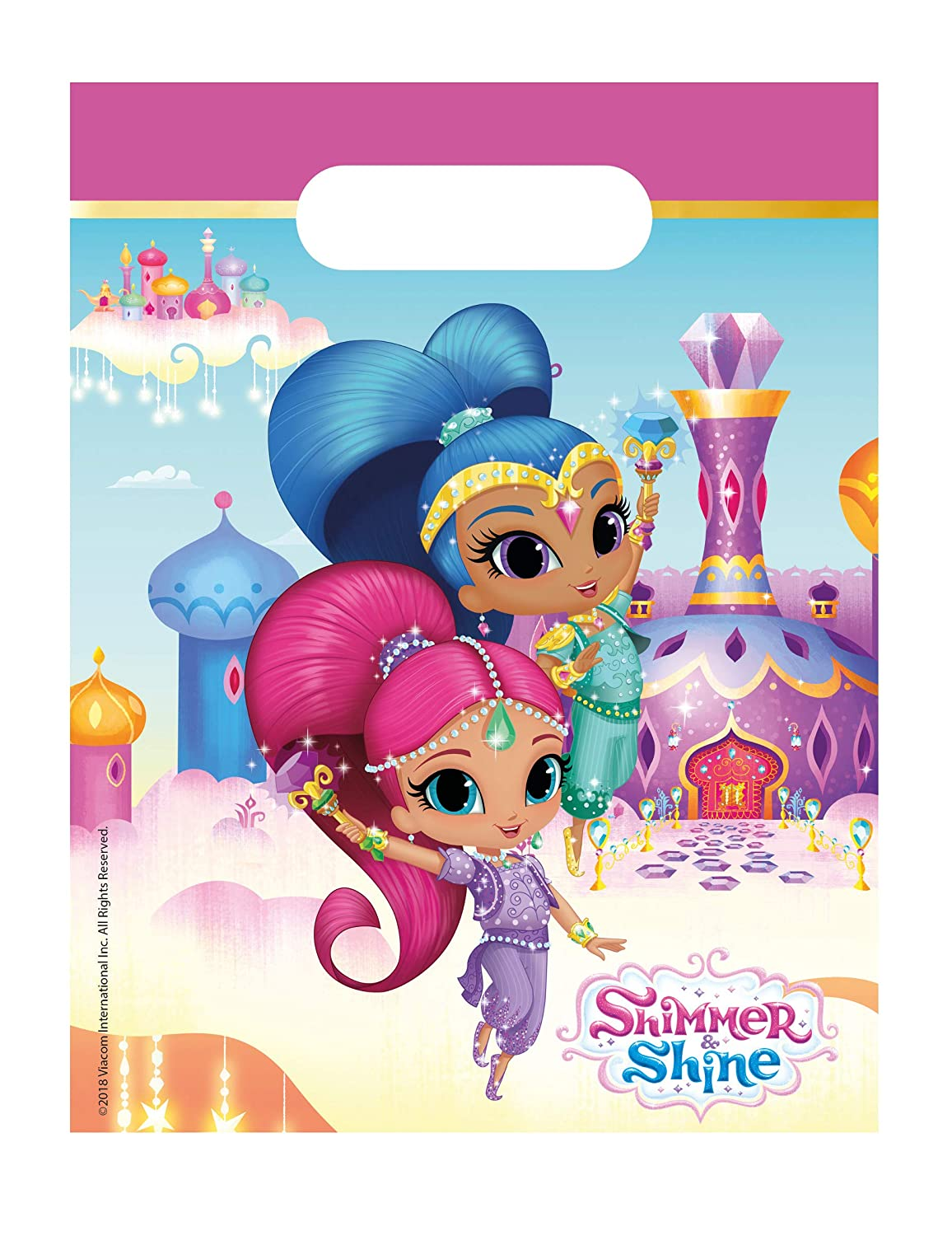 COOLMP - Lote de 6 Bolsas de Regalo Shimmer and Shine 23 x ...