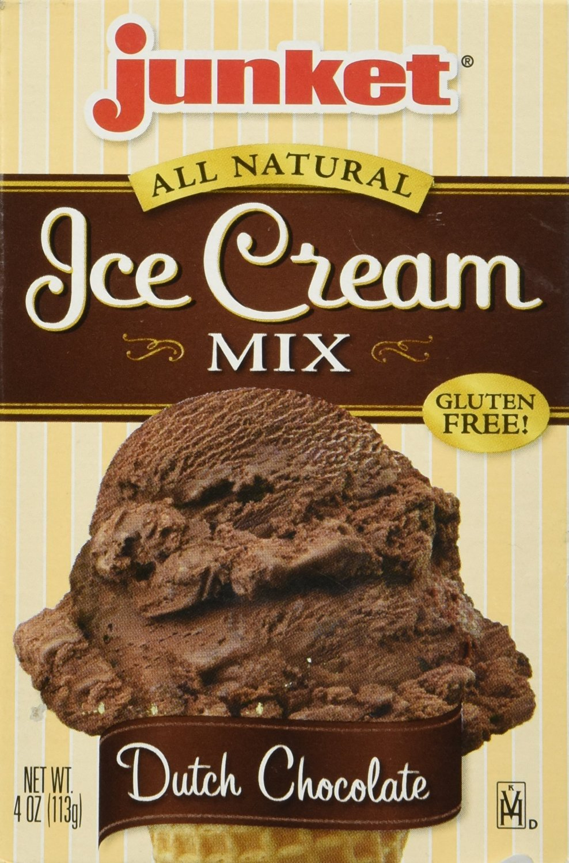 Junket Ice Cream Mix Dutch Chocolate 4 Oz(Pack of 1)