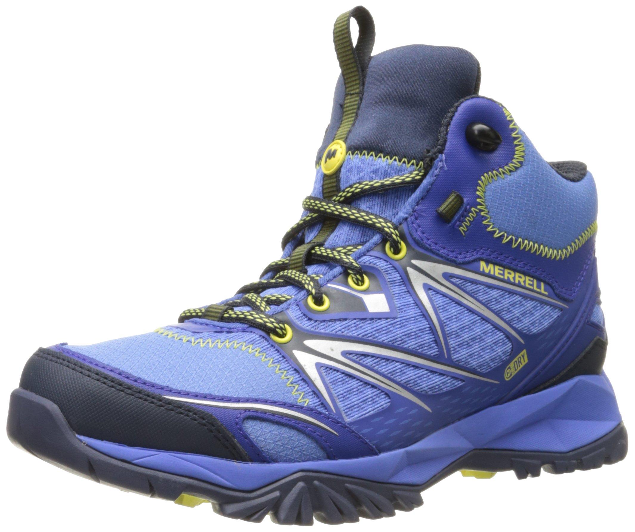 Merrell Women's Capra Bolt Mid Waterproof Hiking Boot, Purple, 6 M US