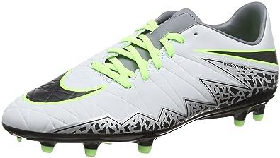 23056e1cd2c2 Nike Men s Hypervenom Phelon II FG Pure Platinum Black Ghost Green Soccer  Shoes -