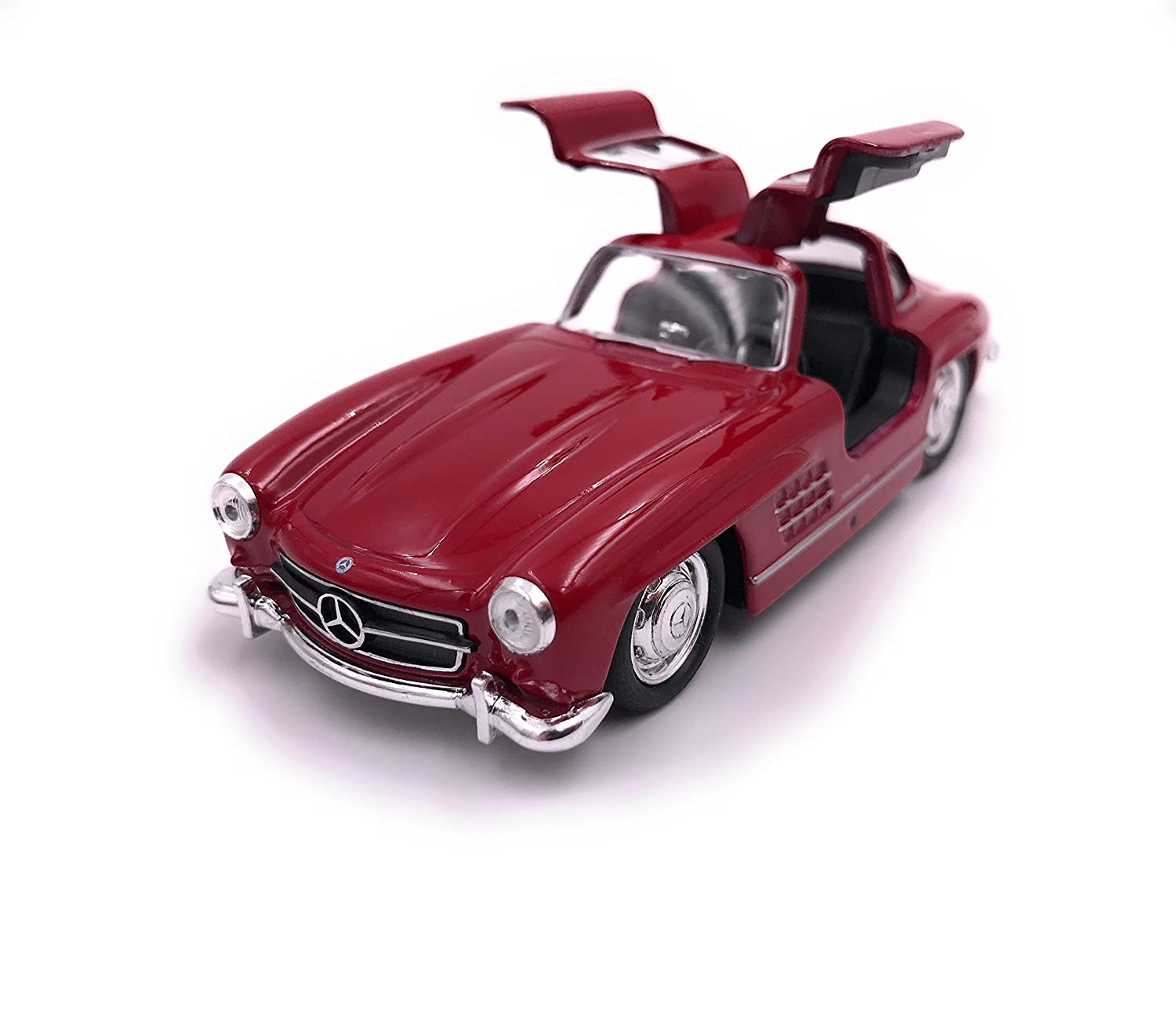 H-Customs Bilancia per Auto Modello Welly Mercedes Benz 300 SL Scala 1:34 Colore Casuale