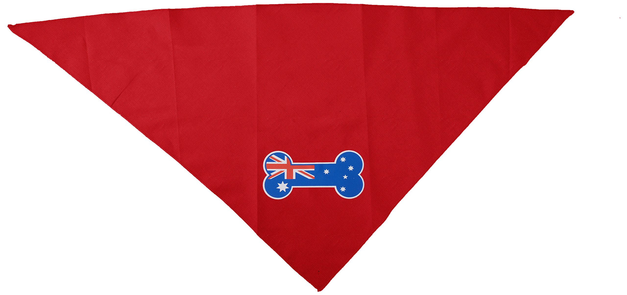 Mirage Pet Products Bone Flag Australian Screen Print Bandana for Pets, Large, Red by Mirage Pet Products (Image #2)