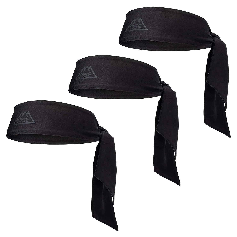 3d4adb3dad924 Rise Dri-Fit Head Ties Headbands   Pack of Three   Sweatbands Moisture  Wicking Tennis Yoga Running Basketball
