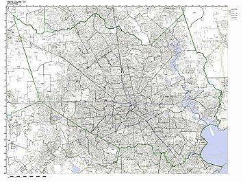 Amazon Com Harris County Texas Tx Zip Code Map Not Laminated Home