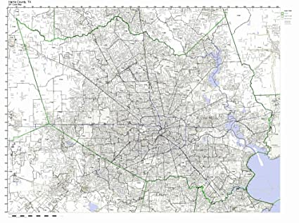 Amazon.com: Harris County, Texas TX ZIP Code Map Not Laminated: Home ...