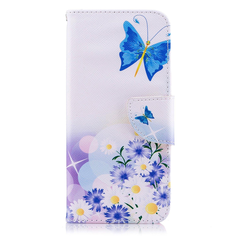 Tophung Funda de piel sintética para Samsung Galaxy A6, a prueba de golpes, con función atril, tarjetero y ranura para identificación, con tapa, para Samsung Galaxy A6, Floral