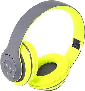 Moveteck Auriculares Bluetooth micrófono MP3 MicroSD Radio FM para ...