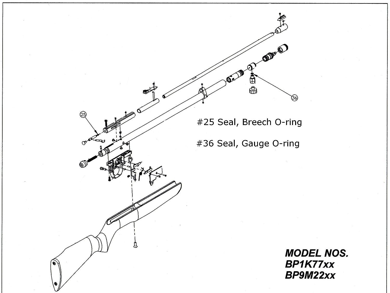 Amazon com: BP Benjamin Discovery O-Ring Seal Kit  177