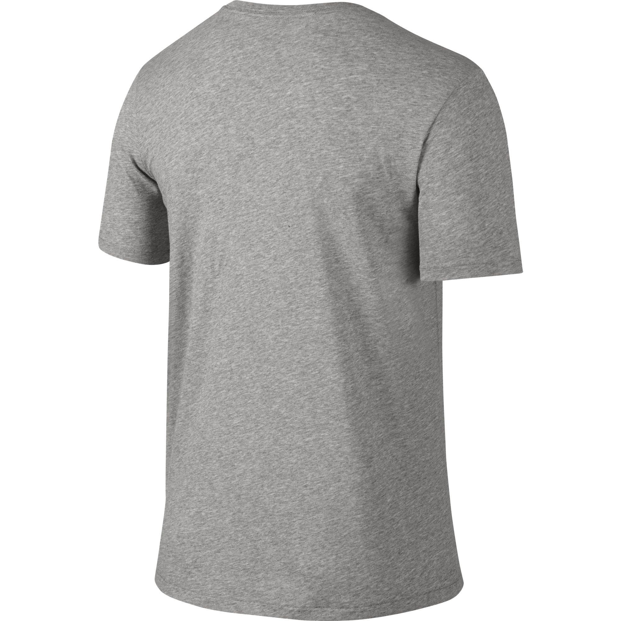 NIKE Men's Dri-FIT Cotton 2.0 Tee, Dark Grey Heather/Dark Grey Heather/Black, Small by Nike (Image #2)