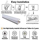 hunhun 40-Pack 3.3ft/1Meter U Shape LED Aluminum