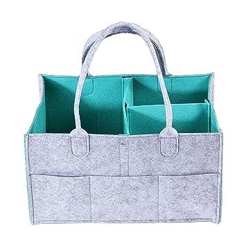 Windel L/ätzchen Bei/ßringe PER Babywindel Caddy Organizer Portable Storage Bin Gro/ße Kindergarten Tote Bag Filz Organizer Korb f/ür Wickeltisch