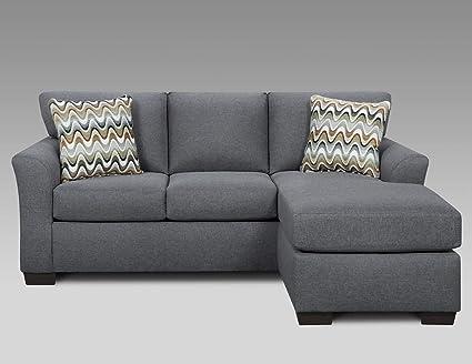 Amazon.com: Charlie Grey Sofa Chaise Grey/Contemporary ...