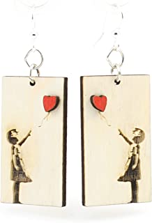 product image for Banksy Floating Heart Earrings
