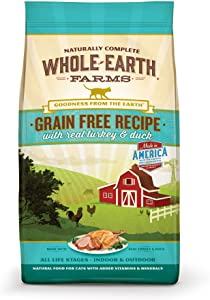 Whole Earth Farms Grain Free Turkey & Duck Recipe 5.0 lb Bag