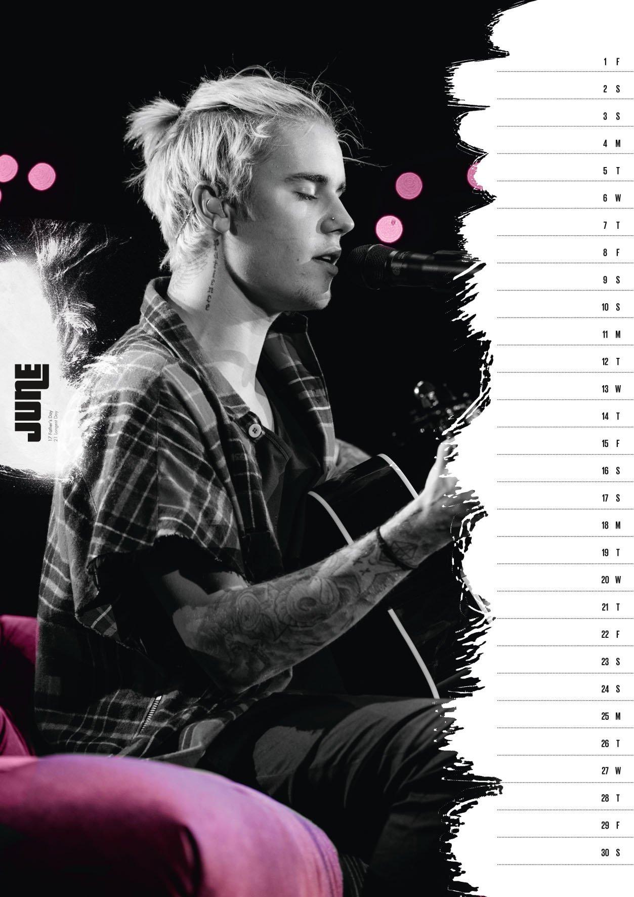 Justin Bieber Official 2018 Calendar - A3 Poster Format (calendar