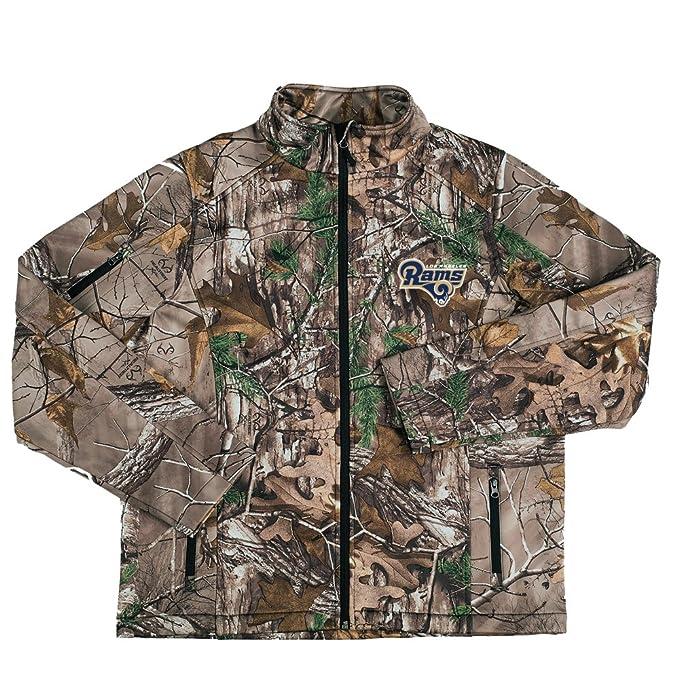a423636e Dunbrooke Apparel NFL Los Angeles Rams Men's Huntsman Softshell Jacket, 3X,  Realtree Xtra Camouflage