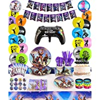 HappyThousands Birthday Party Supplies for Game Fans, 142 pcs Gaming Theme Party Decorations for Boys - include Balloons…