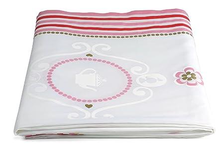 Pip Studio Love Birds 51035016 Cotton Tablecloth, 180 X 300 Cm, Pink/Red
