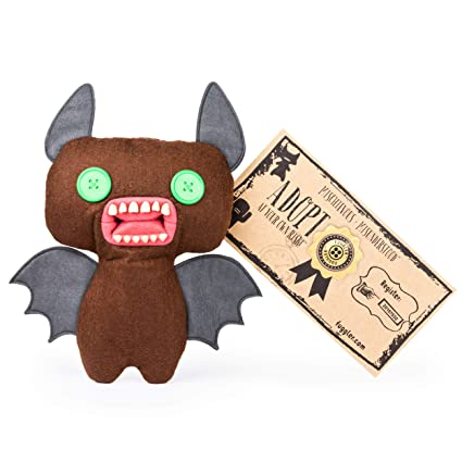 Fugglers, Funny Ugly Monster, 9 Inch Count Fuggula (Brown) Plush Creature with Teeth, for Ages 4 and Up