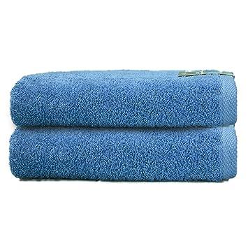 ADP Home - Pack Toallas 550 Grms 2 Piezas (Toalla Ducha/Baño) 100% Algodón Peinado Color - Azul Talla - 70 x 140 cm: Amazon.es: Hogar