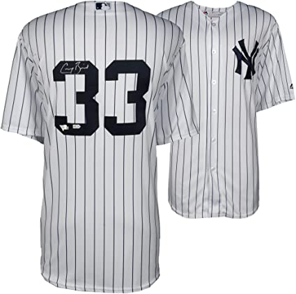 save off 8cf90 b42df Greg Bird New York Yankees Autographed Majestic White ...