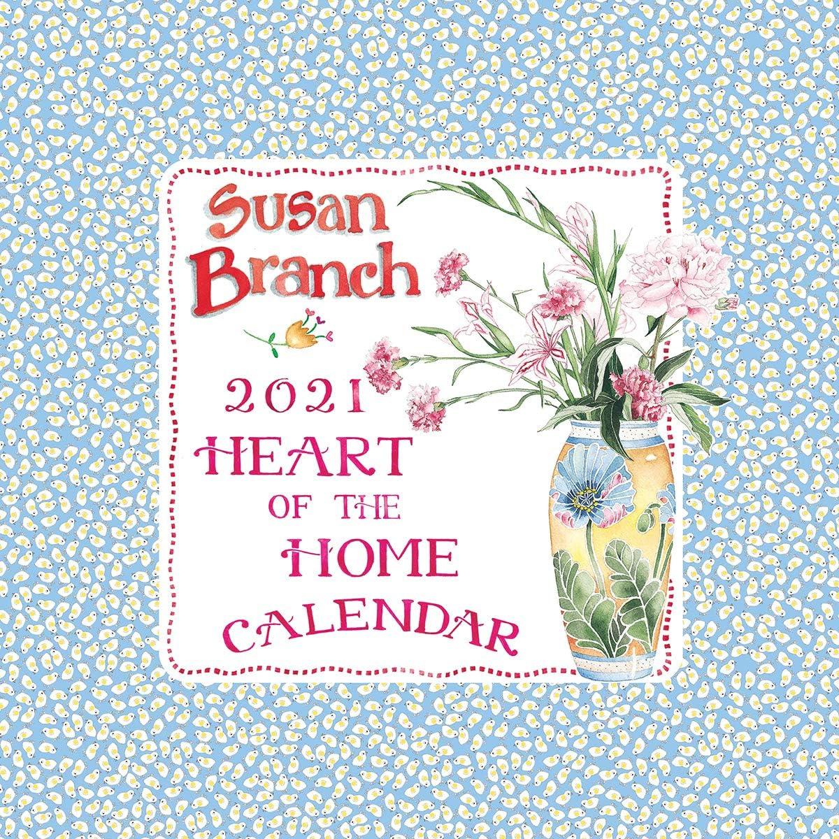 """2021 Susan Branch (Heart of The Home) 12""""x12"""" Wall Calendar"""