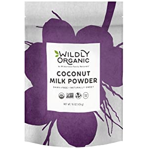 Wildly Organic Powdered Coconut Milk Powder - Powdered Milk Organic- Nature Made - Dry Milk - Unsweetened Coconut Milk - Coconut Milk Organic - Coconut Powder - Dehydrated Coconut Milk - 1 Lbs