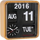 Amazon Com Karlsson Calendar Clock Big Flip White Home