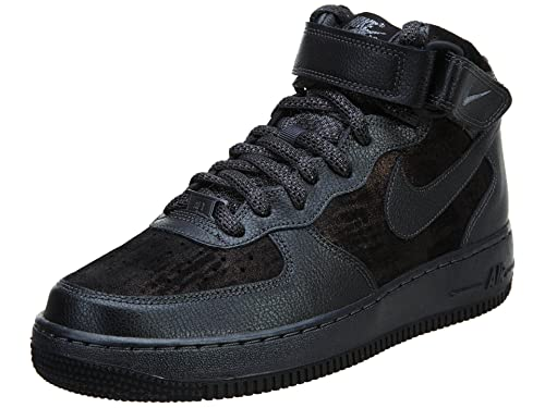 48f55a972978a Nike Air Force 1  07 Mid PRM Mens Style  805292-001 Size  9 M US Black  Buy  Online at Low Prices in India - Amazon.in
