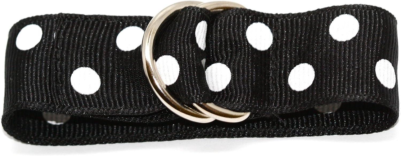 Speidel 14-24mm Black & White Polka Dot One Piece Slip Thru Ribbon Band