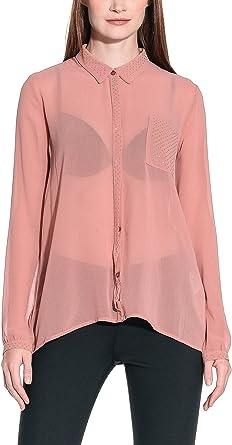 Annarita N Camisa Mujer Rosa Oscuro ES 42 (IT 46): Amazon.es: Ropa y accesorios