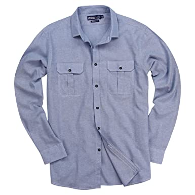 a784c277 Urban Boundaries Mens Chambray Button Down Long Sleeve Casual Shirt