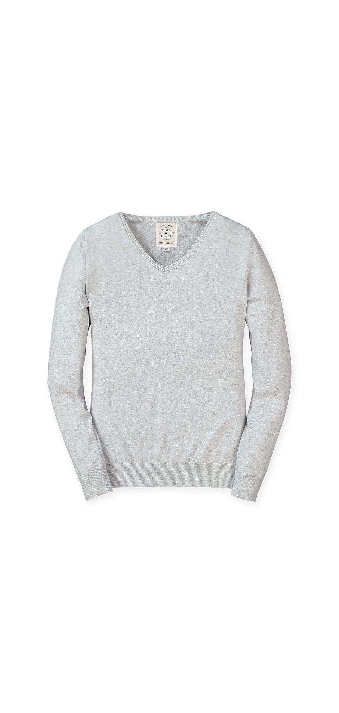 Women's Long Sleeve Fine Gauge V-neck Sweater