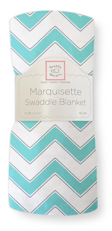 SwaddleDesigns Pucktuch aus Marquisette Pfeilf/örmiges Muster Blau Premium Baumwollmusselin