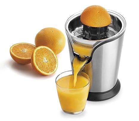 Lacor 69287 Exprimidor Zumo de Naranja eléctrico, Acero Inoxidable, Libre de BPA, 100