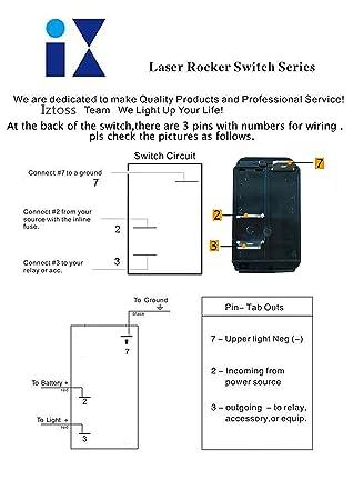 Amazon.com : IZTOSS 3 Gang Rocker Switch Panel with Power Socket 3.1 on 3 float switch wiring diagram, 3 way switch wiring diagram, carling rocker switch wiring diagram, 3 battery wiring diagram, 3 wire wiring diagram, lighted rocker switch wiring diagram, 3 lamp wiring diagram,
