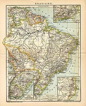 Carte Amerique Latine Uruguay.Theprintscollector Carte Antique Amerique Latine Bresil Uruguay