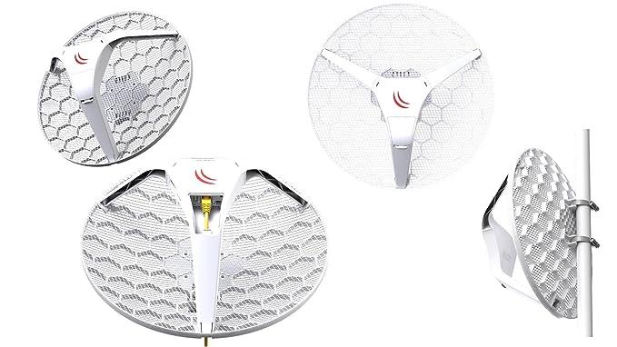 Amazon.com: Mikrotik LHG 5 Light Head Grid 5GHz CPE integrated 24.5 dBi grid antenna PoE 6W: Computers & Accessories